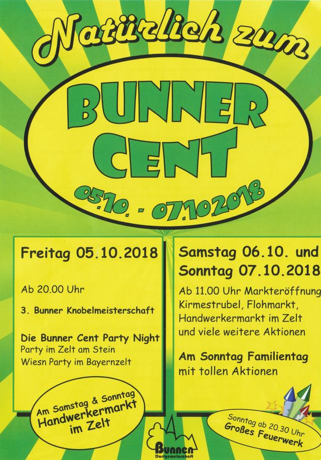 Bunner Cent 2018